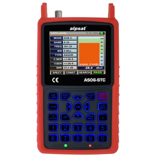 Alpsat AS06-STC - Combo Signal Analyzer Πεδιόμετρα Onetrade