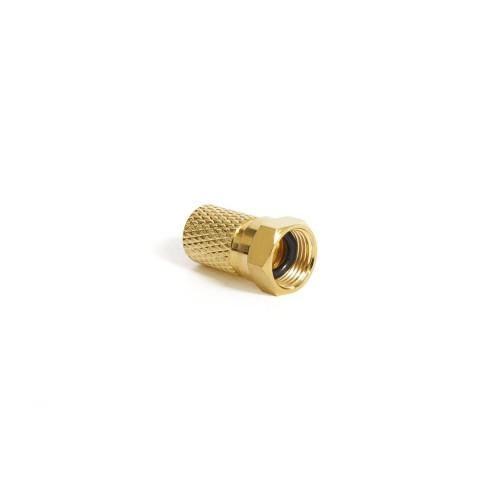 F03-70G - F Connector 7mm με O-ring, Χρυσό Βύσματα Onetrade
