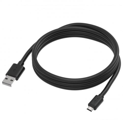 Manhattan  ICOC MUSB-A-010FCB - Καλώδιο 1 μ Μαύρο / Micro-USB  γρήγορης φόρτισης  Καλώδια Onetrade