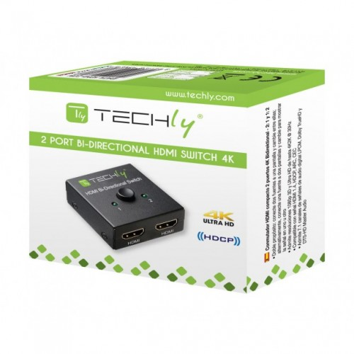 Techly IDATA HDMI-22BI - HDMI Switch 2 ports