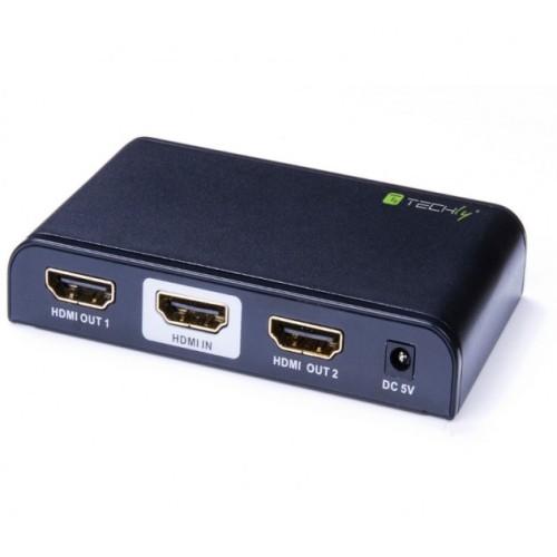 Techly IDATA HDMI2-4K2 - HDMI 2.0 Splitter 2-way 4K2 HDMI Split Onetrade