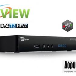 TELE System TS6800 - DVB T2 HEVC Δέκτης Κριτική